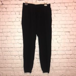 Gap Factory Black Pants with Elastic Ankles